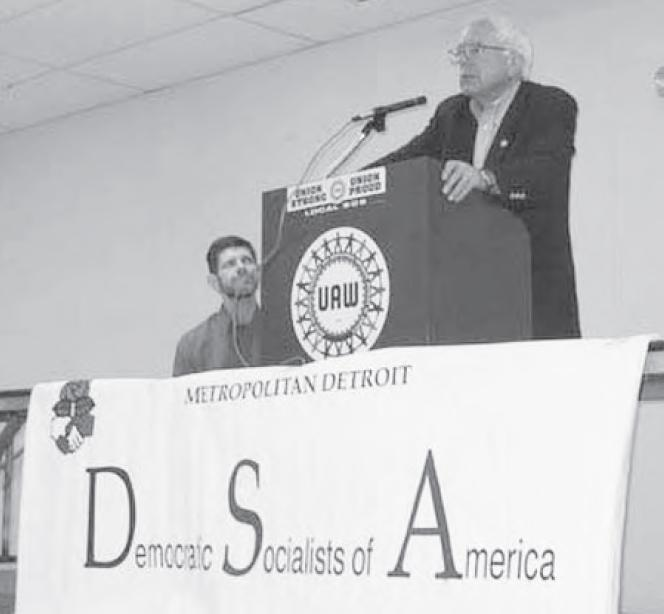 Bernie Sanders, and Detroit DSA leader David Green, June 25th, 2006