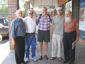 MDSers Paul Krehbiel, Tom Good, Jay D. Jurie, Paul Buhle and Jim Zarichny, Ann Arbor, new SDS convention 2006