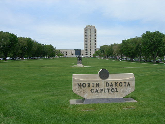 The North Dakota State Capitol, Bismarck, ND