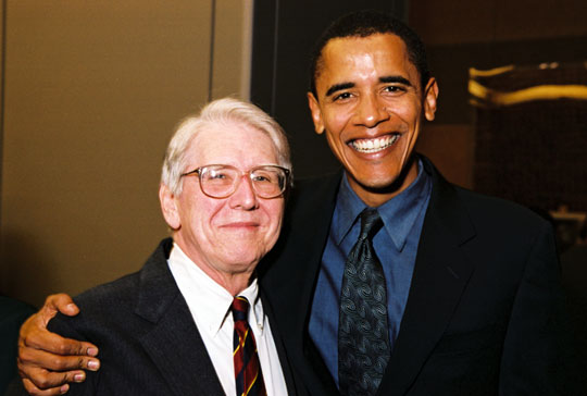 Quentin Young and Barack Obama
