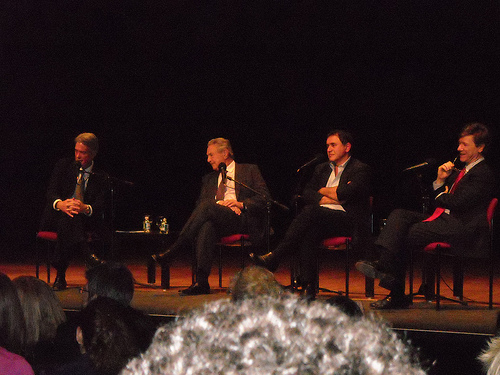 "Panelists George Soros,Nouriel Roubini, Jeffrey Sachs at  ""Can we save the World Economy"", October 20, 2008"