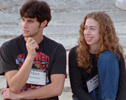 Chelsea Clinton and Marc Mezvinsky in 1996