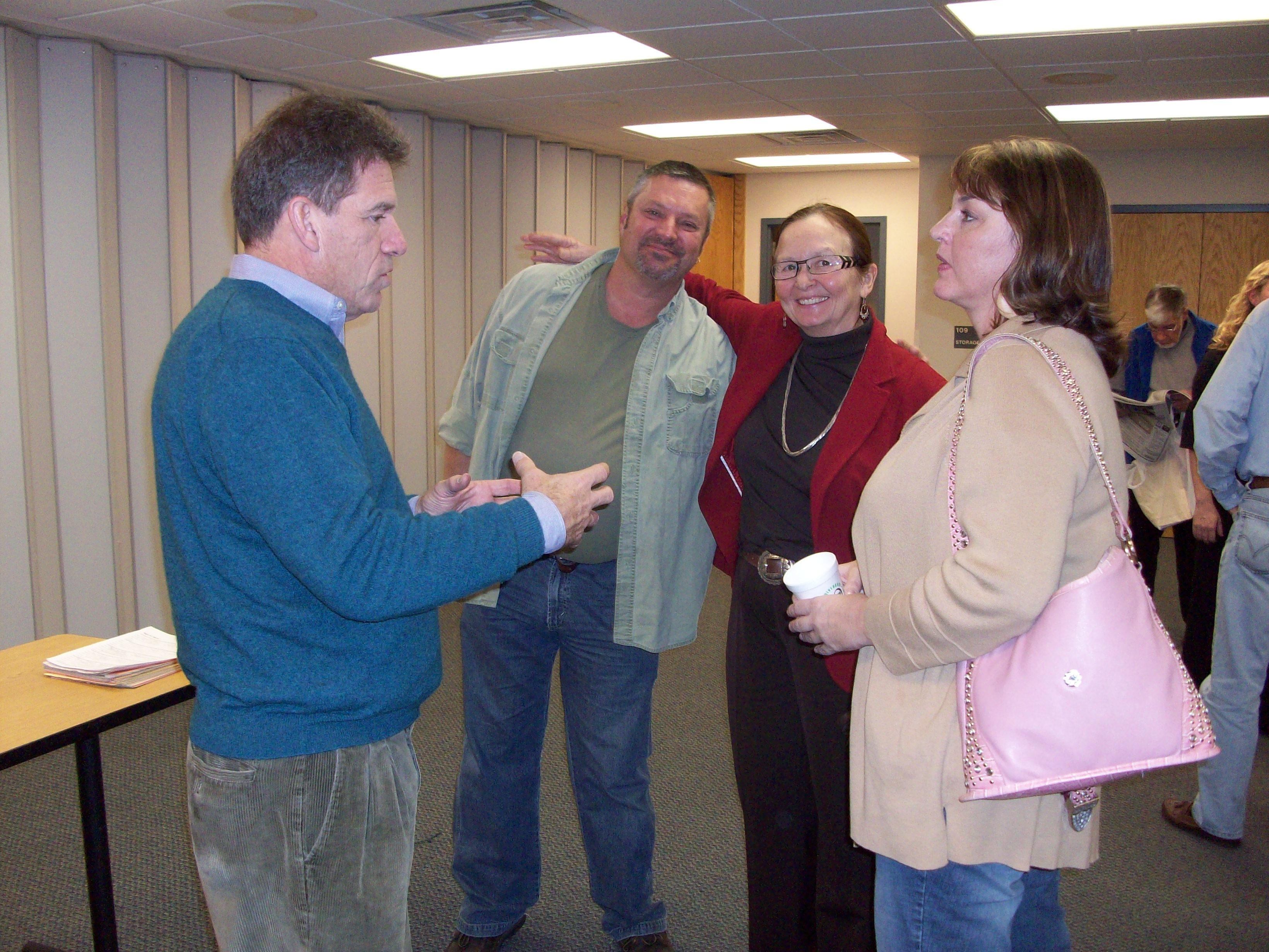 from left:Mark Ritchie, Dan Tokach, Sarah Vogel and April Fairfield