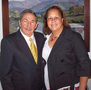 Raul Castro and Laura Richardson