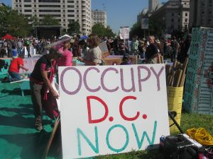 Protestors at Occupy DC