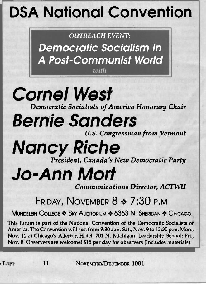 Democratic Left, Nov./Dec. 1991