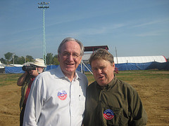 Tom Harkin at FighhtingBob 2009, with Democratic Socialists of America member Tim Carpenter